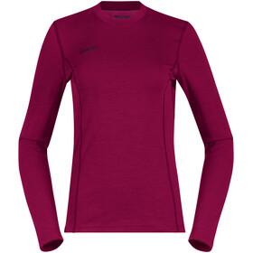 Bergans Akeleie Camiseta Mujer, beet red/raspberry